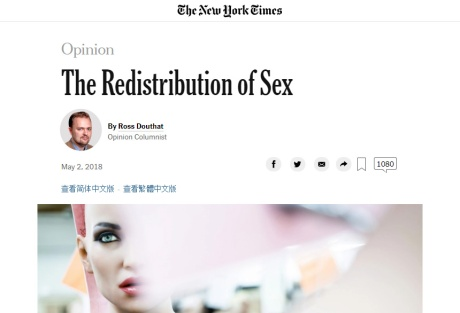 redistribution of sex